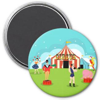 Imán del circo del vintage