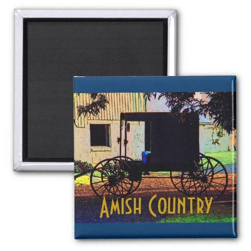 Imán del cochecillo de Amish