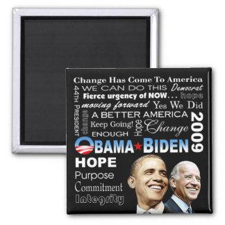 Imán del collage de Obama Biden (negro)