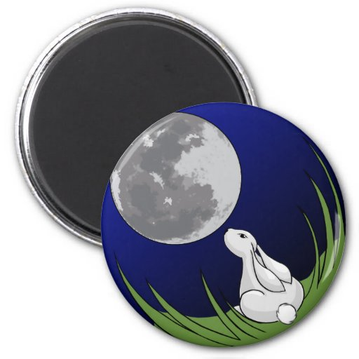 Imán del conejito de la luna