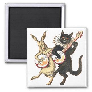 Imán del conejo y del gato