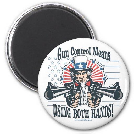 Imán del control de armas del tío Sam
