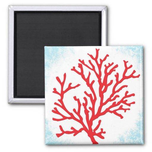 Imán del coral rojo
