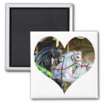 Imán del corazón de los caballos del carrusel
