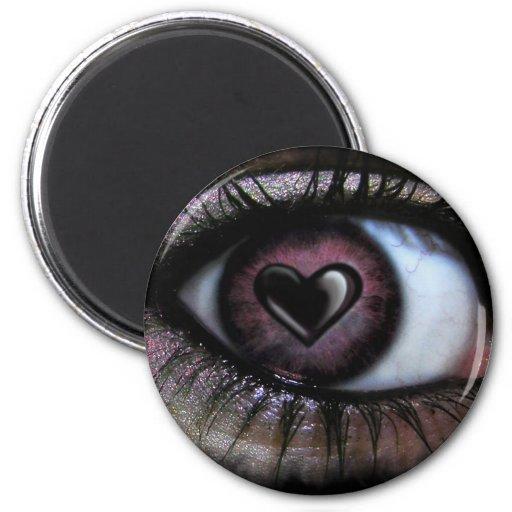 Imán del corazón U del ojo
