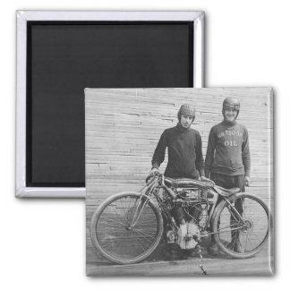 imán del corredor de la motocicleta de los años 30