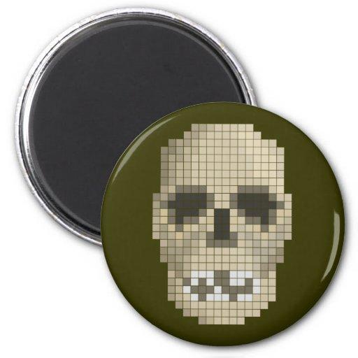 Imán del cráneo del pixel