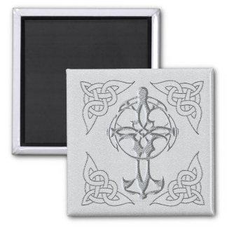 Imán del cuadrado de la cruz céltica