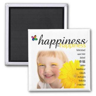 Imán del cuadrado de la felicidad de PositivEnergy