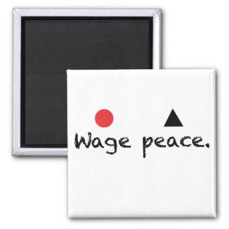 Imán del cuadrado de la paz del salario