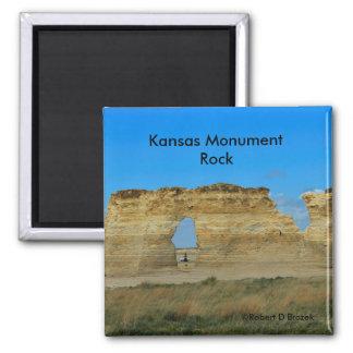 Imán del cuadrado de la roca del monumento de