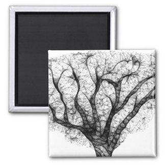 Imán del cuadrado del árbol del escritorzuelo