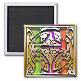 """Imán del cuadrado del """"arco iris céltico"""" del"""