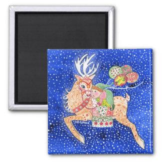 Imán del cuadrado del ayudante de Rudolph y de San