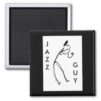 Imán del cuadrado del individuo del jazz