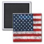 Imán del cuadrado del retrato de la bandera americ