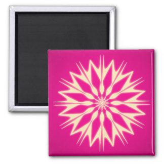Imán del cuadrado del rosa del arte abstracto