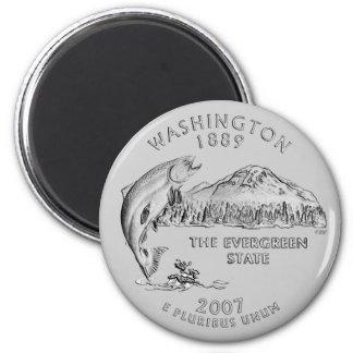 Imán del cuarto del estado de Washington