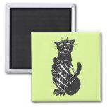 Imán del depredador del gato negro