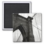 Imán del detalle del puente de Brooklyn