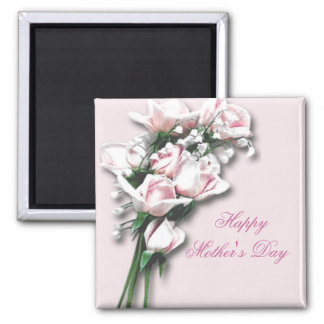 Imán del día de madre del ramo de los rosas