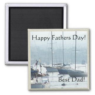 Imán del día de padres de los veleros