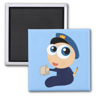 Imán del dibujo animado del policía del bebé