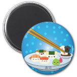 Imán del disco del sushi de Kawaii