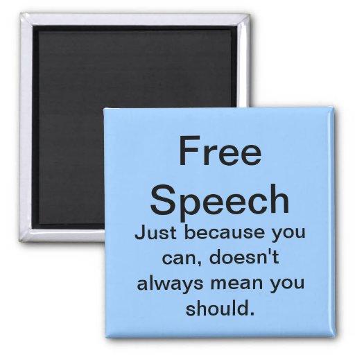 Imán del discurso libre