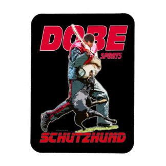 Imán del diseño de Dobermann Schutzhund