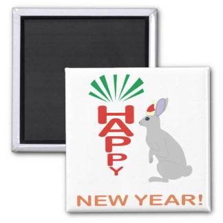 Imán del diseño del Año Nuevo del conejo