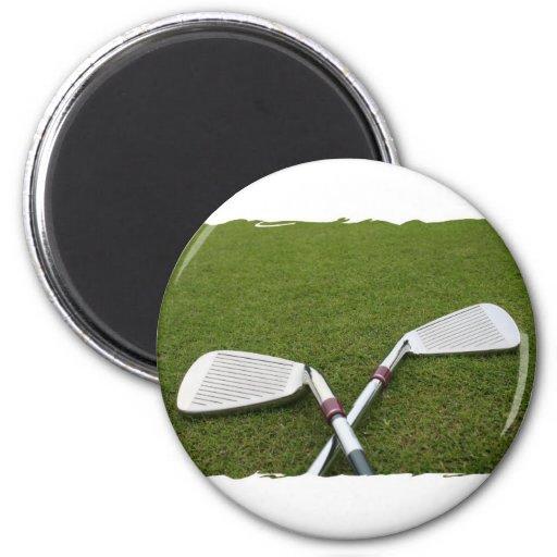 Imán del diseño del club de golf