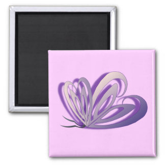 Imán del diseño del corazón de la mariposa