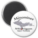 Imán del diseño del mapa del corazón de Michigan d