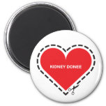 Imán del donatario del riñón