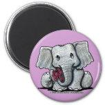 Imán del elefante de KiniArt