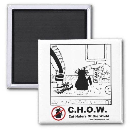 Imán del enemigo del gato - dibujo animado del fút