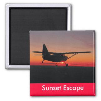 Imán del escape de la puesta del sol