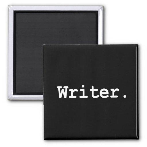 Imán del escritor - cuadrado