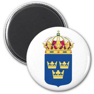 Imán del escudo de armas de Suecia