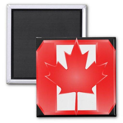 Imán del escudo de la bandera de Canadiand