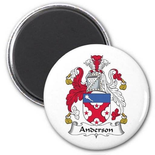 Imán del escudo de la familia de Anderson