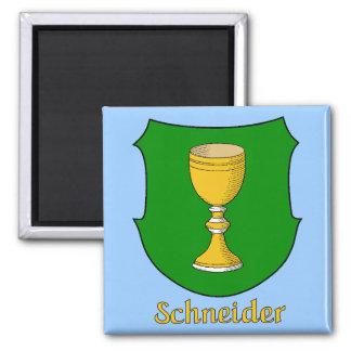 Imán del escudo de la familia de Schneider