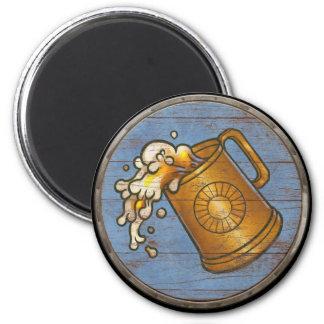 Imán del escudo de Viking - jarra de cerveza
