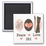 Imán del esquí del amor de la paz
