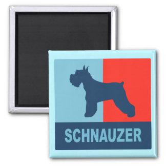 Imán del estilo del Schnauzer