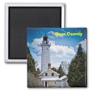 Imán del faro del condado de Door