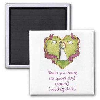 Imán del favor del día de boda