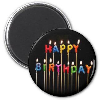 Imán del feliz cumpleaños