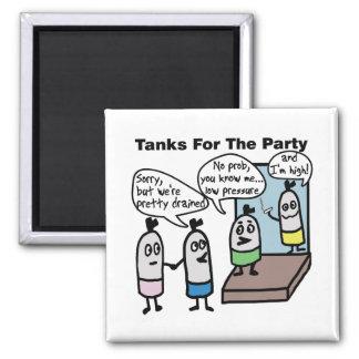 Imán del fiesta de los tanques